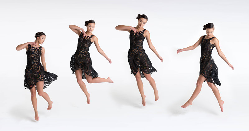 Kinematic Dress – koronkowa robota 3D