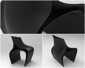 Te krzesła drukowane 3D, projektu m.in. Zaha Hadid Architects, będzie można zobaczyć podczas Milan Design Week 2018 design druk 3D w architekturze meble 3d Milan Design Week Nagami Salone del Mobile Zaha Hadid Zaha Hadid Architects 3
